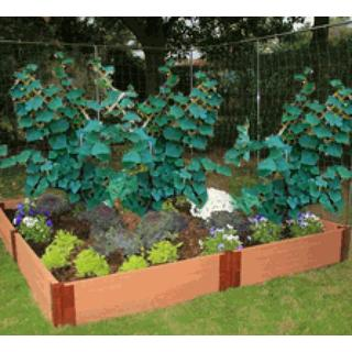 Frame It All Raised Garden 1-inch (8' x 8') 2 Level c/w 2 Veggie Wall