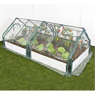 Frame It All Raised Garden White 1-inch (4' x 8') 1 Level c/w 2 PVC Greenhouse