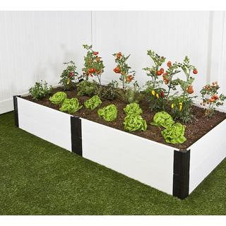 Frame It All Raised Garden White 1-inch (4' x 8') 2 Level