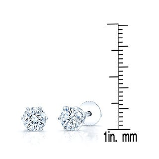 18k White Gold 2/5ct TDW Round Diamond Stud Earrings (H-I, SI2-I1)