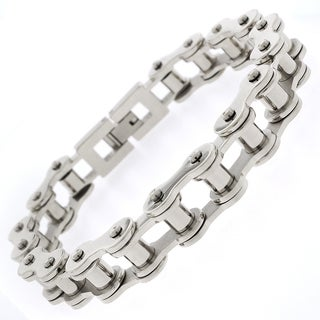 Stainless Steel Mens Bicycle Chain Link Bracelet 8.5""