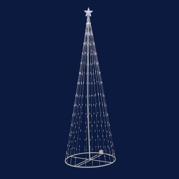9' Indoor/ Outdoor LED Warm White Light Show Tree 16321262
