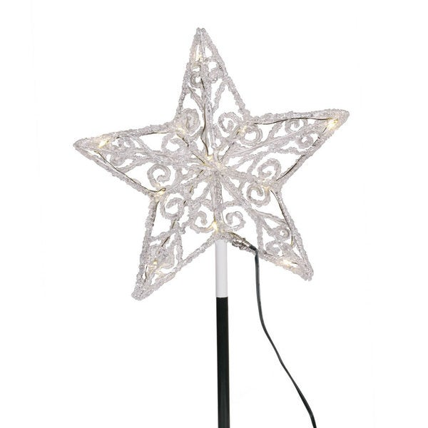 Iced LED 9-inch Star Tree Top
