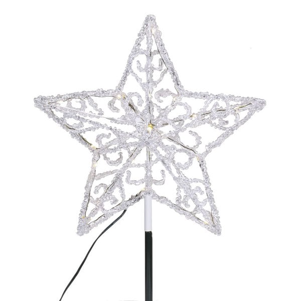 Iced 12-inch LED Star Tree Topper