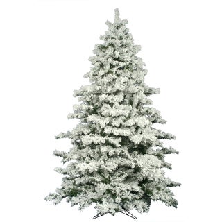 "10' x 82"" Flocked Alaskan Pine Tree with 2883 PVC Tips"