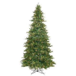 "12' x 76"" Slim Mix Country Pine tree with 1900 Clear Dura-Lit Lights"