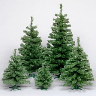 """18"""" Canadian Pine Tree with Plastic Stand"""