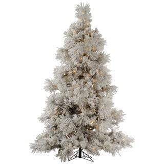 "9' x 68"" Flocked Pocono Pine Tree with 950 Clear Dura-Lit Lights"