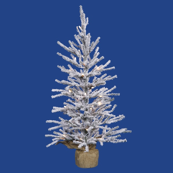 "18"" x 12"" Flocked Angel Pine Tree with 142 PVC Tips"