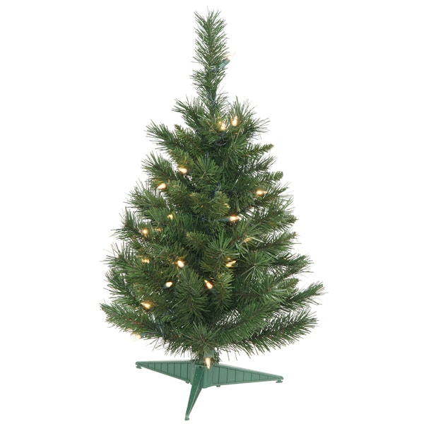 """24"""" Imperial Pine Tree 35 Multi-Colored Lights"""