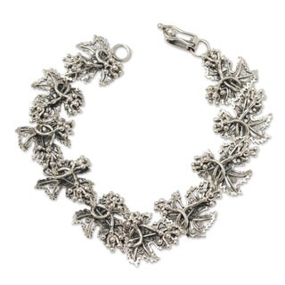 Handcrafted Sterling Silver 'Morgana' Bracelet (Peru)
