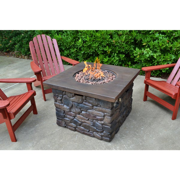 Tortuga Outdoor Yosemite II Fire Pit with Bonus Fire Column 16321615