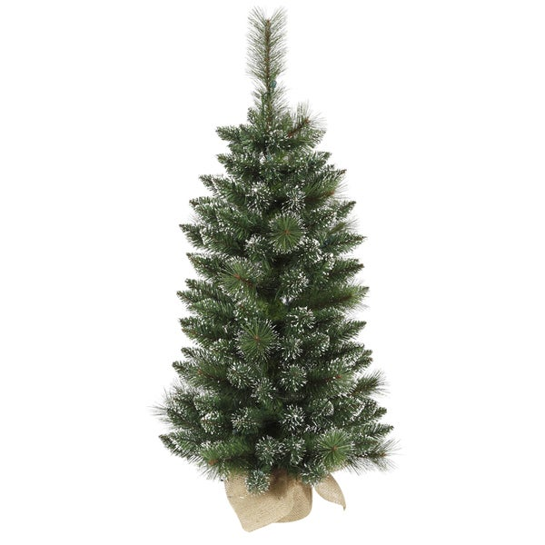 "3' x 17"" Mixed Snow Tipped Pine Tree with 134 PVC Tips"