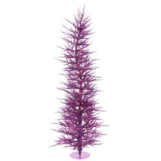 "3' x 17"" Purple Laser Tree with 50 Purple Mini Lights and 445 PVC Tips"
