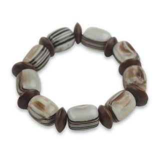 Handcrafted Sese Wood 'Elikplim' Bracelet (Ghana)