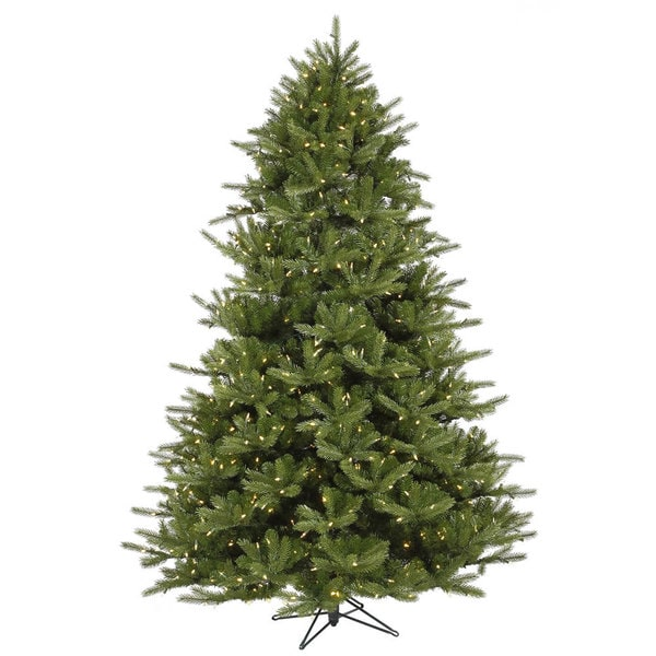 "7.5' x 63"" Majestic Frasier Tree with 1150 Warm White LED Lights"