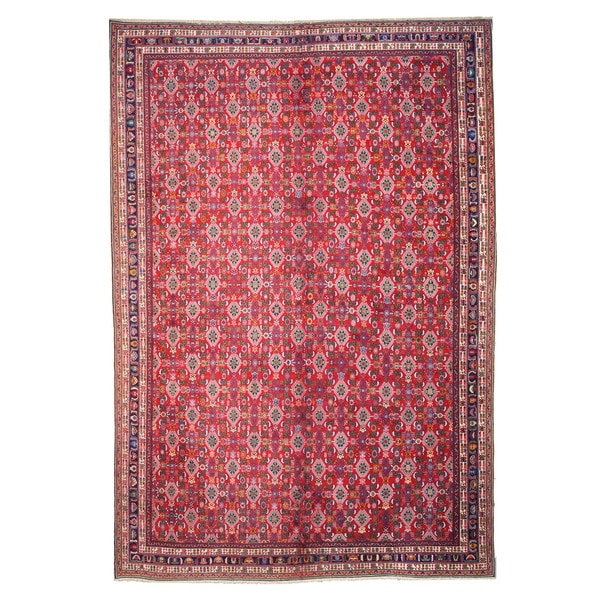 Red Hand-knotted Wool Kashkuli Rug (12'11 x 19'2)