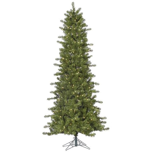 "7.5' x 42"" Slim Ontario Spruce Tree with 500 Warm White Italian LED Lights"