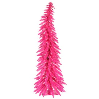 """4' x 22"""" Pink Whimsical Tree with 70 Pink Mini Lights and 170 PVC Tips"""