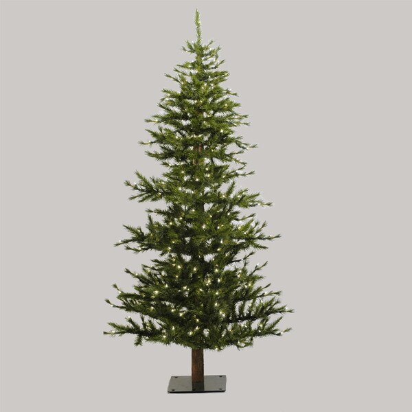 "7' x 41"" Minnesota Pine Half Tree with 300 Clear Dura-Lit Lights"