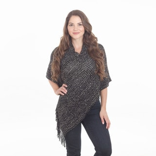 Sequined Design Poncho