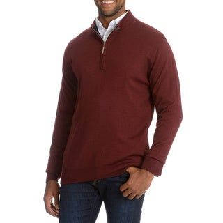 Stacy Adams Men's Solid Quarter Zip Sweater