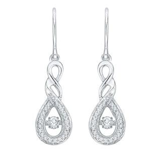 10K White Gold 1/4ct TDW White Dancing Diamond Fashion Pendant (G-H,I2-I3)