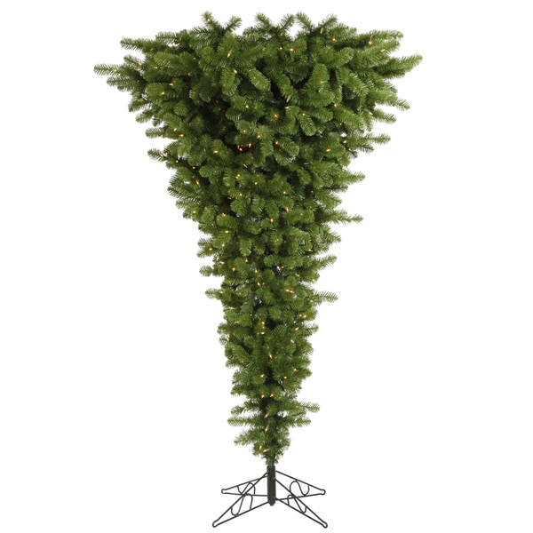 "5.5' x 38"" Green Upside Down Tree with 250 Clear Dura-Lit Lights"