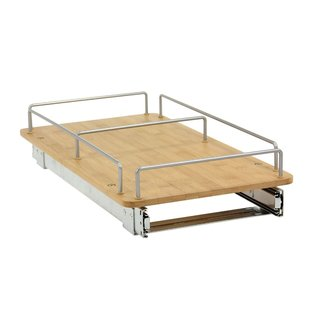 Household Essentials Glidez Bamboo 11.5-Inch Sliding Cabinet Organizer