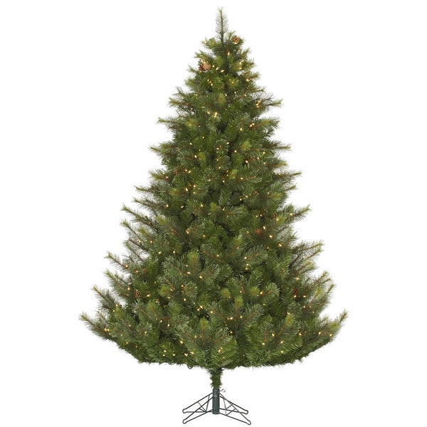 """4.5' x 42"""" Modesto Mixed Pine Tree with 250 Clear Dura-Lit Lights"""