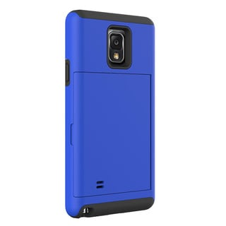 Hybrid Dual Layer Card Holder Case for Samsung Galaxy Note 4