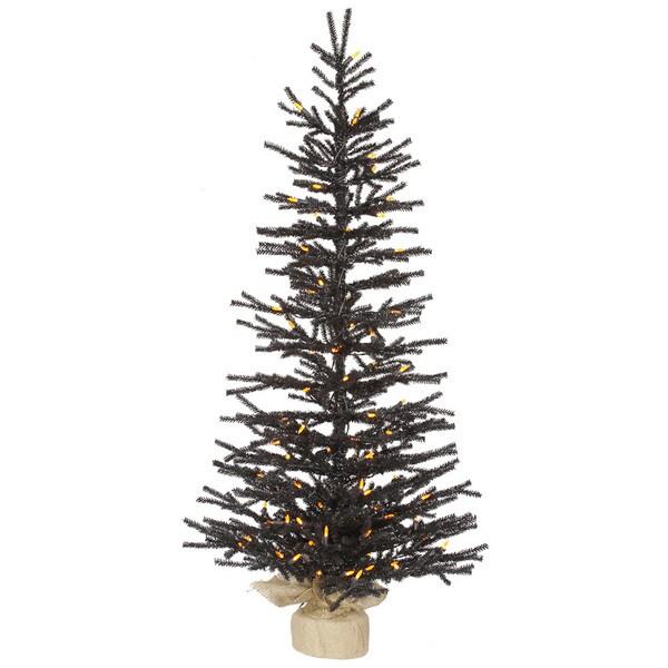 "48"" x 25"" Black Pistol Tree with 100 Orange LED Lights"