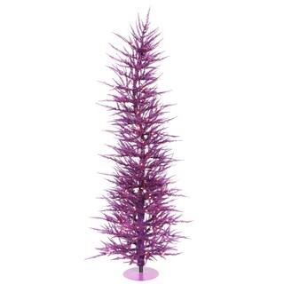 "6' x 26"" Purple Laser Tree with 150 Purple Mini Lights and 1262 PVC Tips"