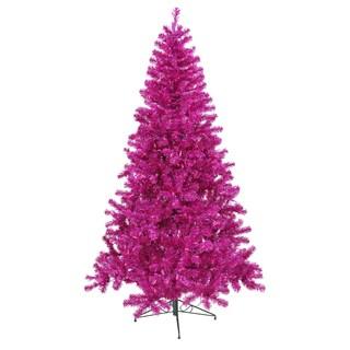 "6' x 44"" Fuchsia Tree with 350 Purple Lights"