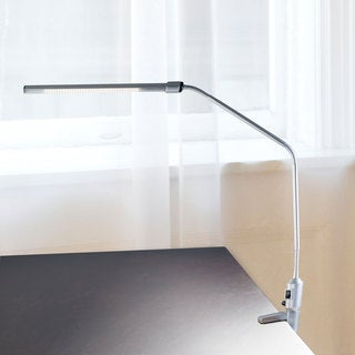 Contemporary Clamp LED Desk Lamp, 41-inch, Silver