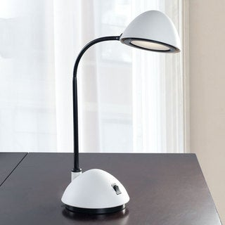 Bright Energy Saving LED Desk Lamp, 21-inch, White