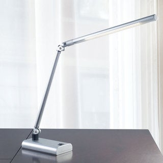 Contemporary Energy Saving LED Desk Lamp, 26-inch, Silver
