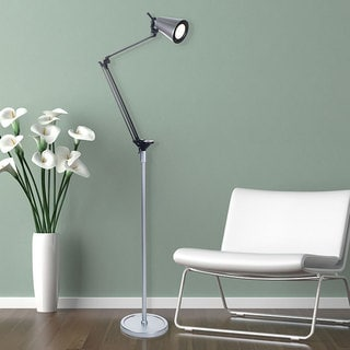 Adjustable LED Floor Lamp, 72-inch, Silver