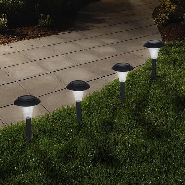 Pure Garden Solar Powered Black Accent Lights - Set of 8