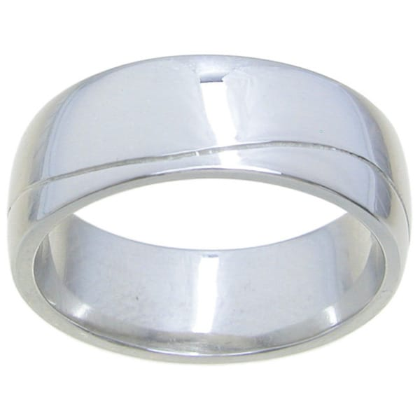 Sterling Silver High Polish 7.5mm Wedding Band