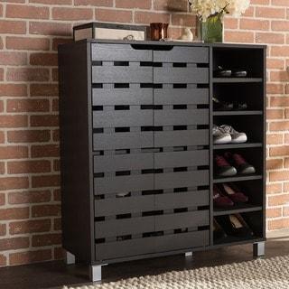 Porch & Den Hanalei Unique Black Storage Cabinet