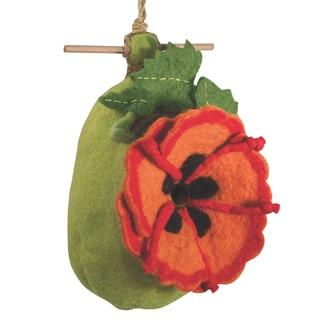 Wild Woolies Felt Birdhouse - Poppy (Nepal)