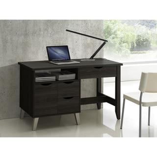 Baxton Studio Mckenzie Contemporary 3-drawer Dark Brown Wood Study Desk