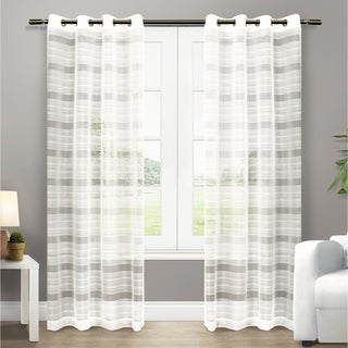Michel Grommet Top 96-inch Sheer Curtain Panel Pair