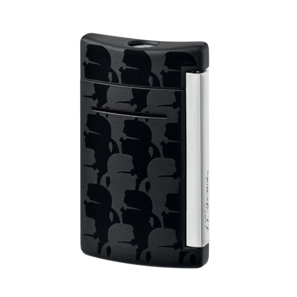 ST Dupont Minijet Black Matte Karl Lagerfeld Torch Flame Lighter