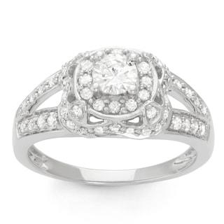 14k White Gold 1.5ct TDW Diamond Bridal Ring