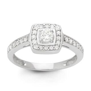0.5 CT Modern Bridal Ring in 14K White Gold