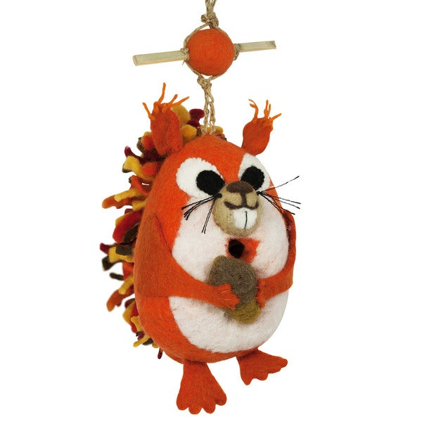 Wild Woolies Felt Birdhouse - Nutty Squirrel (Nepal)