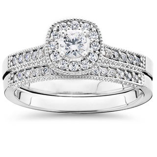 10k White Gold 5/8 ct TDW Diamond Bridal Engagement Ring (I-J,I2-I3)
