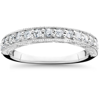 14k White Gold 1/2ct TDW Diamond Wedding Ring (H-I,I1-2)